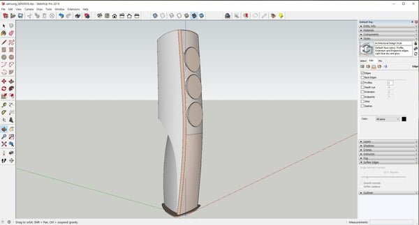 Samsung Standing Airconditioner file with Rhino3D and skp file - Digital file