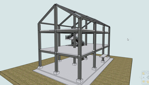 Steel Frame Building with ARCHLine.XP