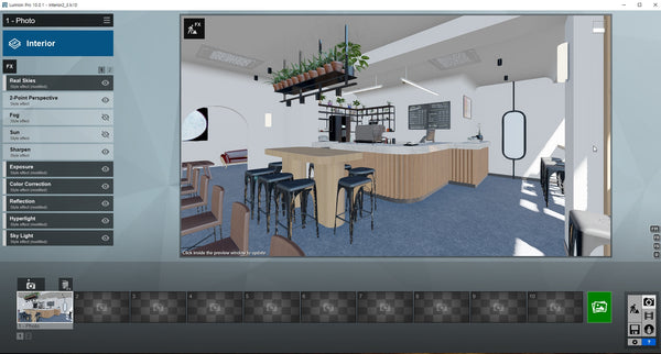 Cafe Lumion10 Rendering file
