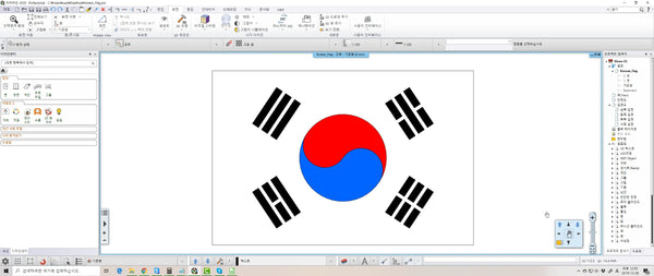 Korean Flag file dwg and pro file