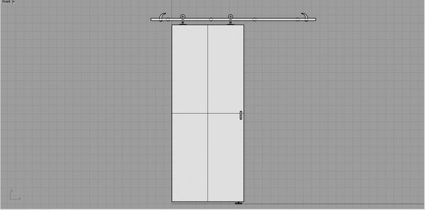 Hanger Door object 3dm and skp file