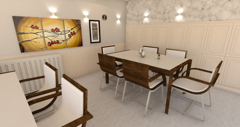 Dining room with wainscoting - Digital file