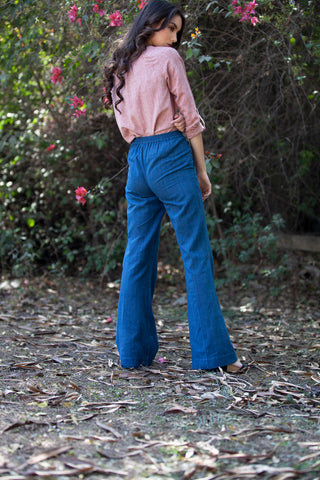 Cecilia pants in indigo khadi cotton