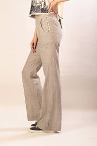 Cecilia pants in striped khadi cotton