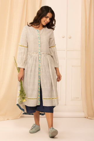 Katrina dress in striped malkha