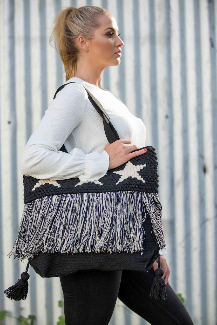 Stargaze Shopper - Black & Natural