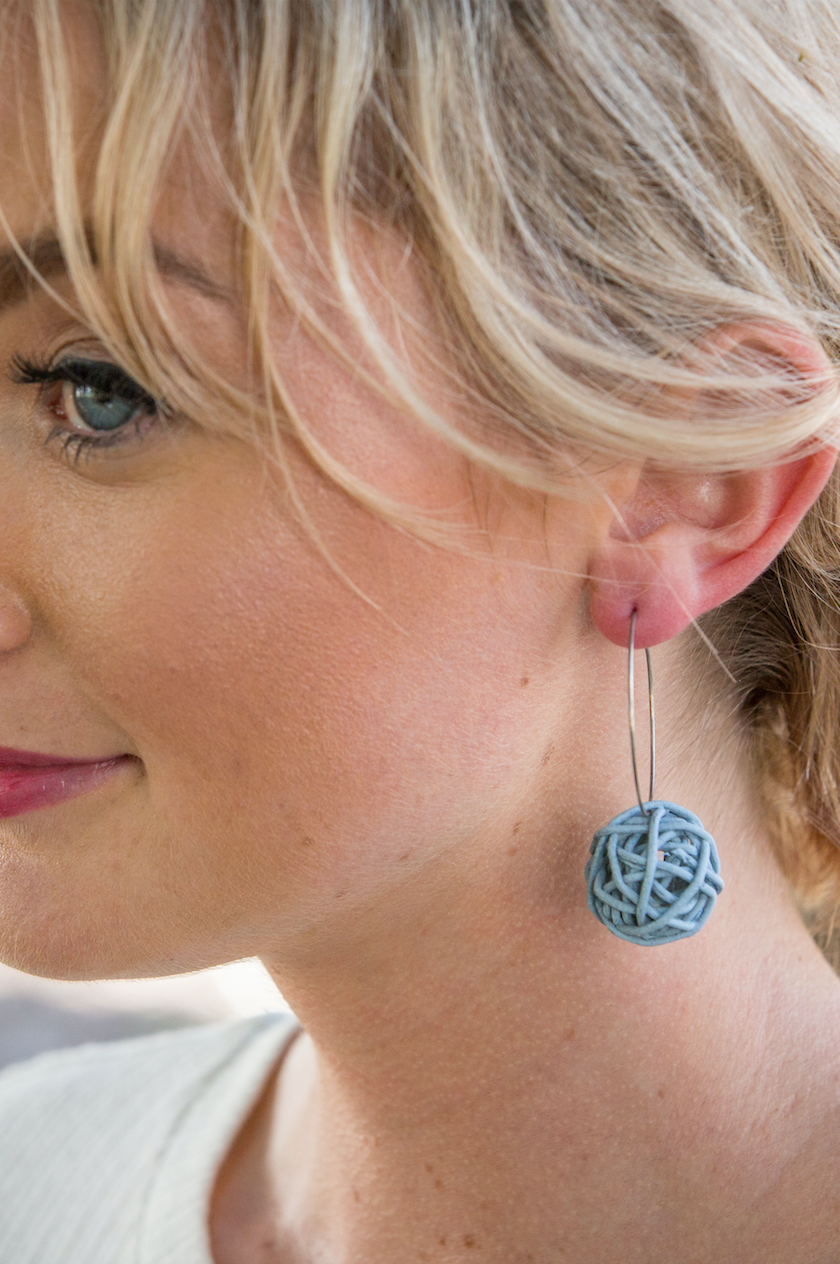 Nest Earring - Denim