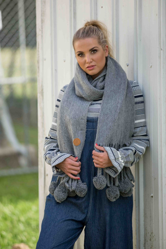 Nest Scarf - Pewter