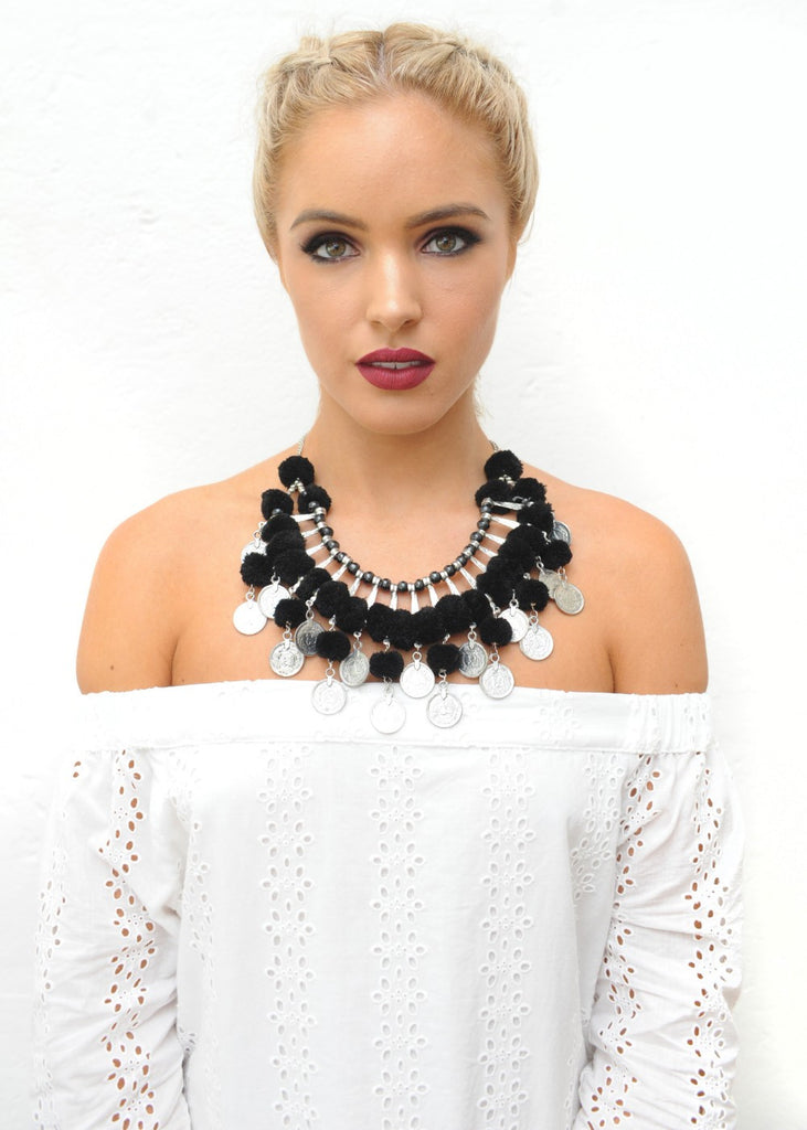 Cloudberry Necklace - Silver & Black