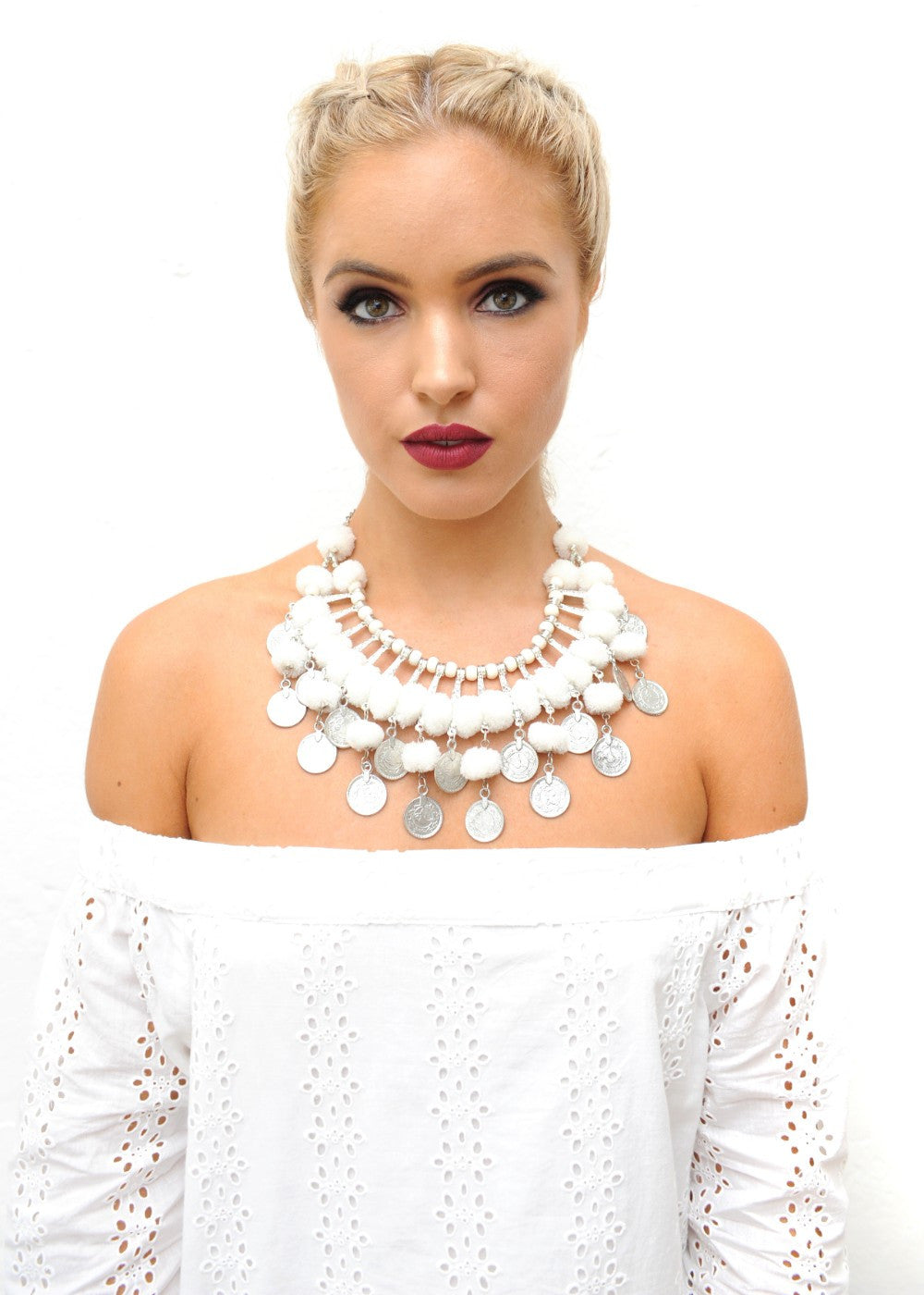 Cloudberry Necklace - White