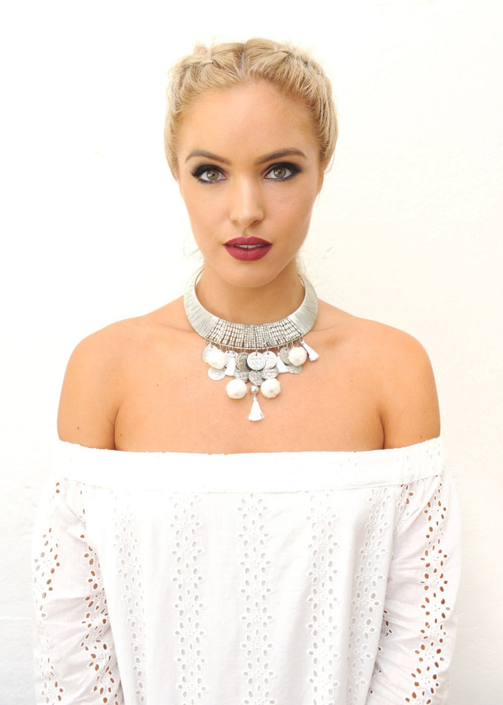 Thistle Choker - White