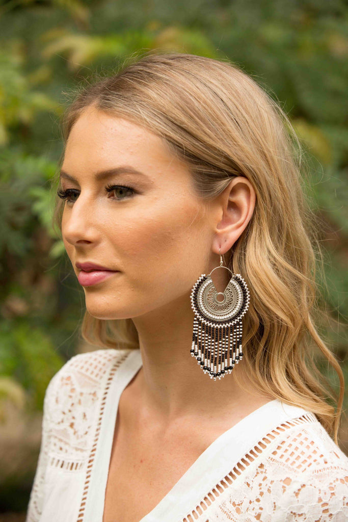 Zimba Earring - Black & White