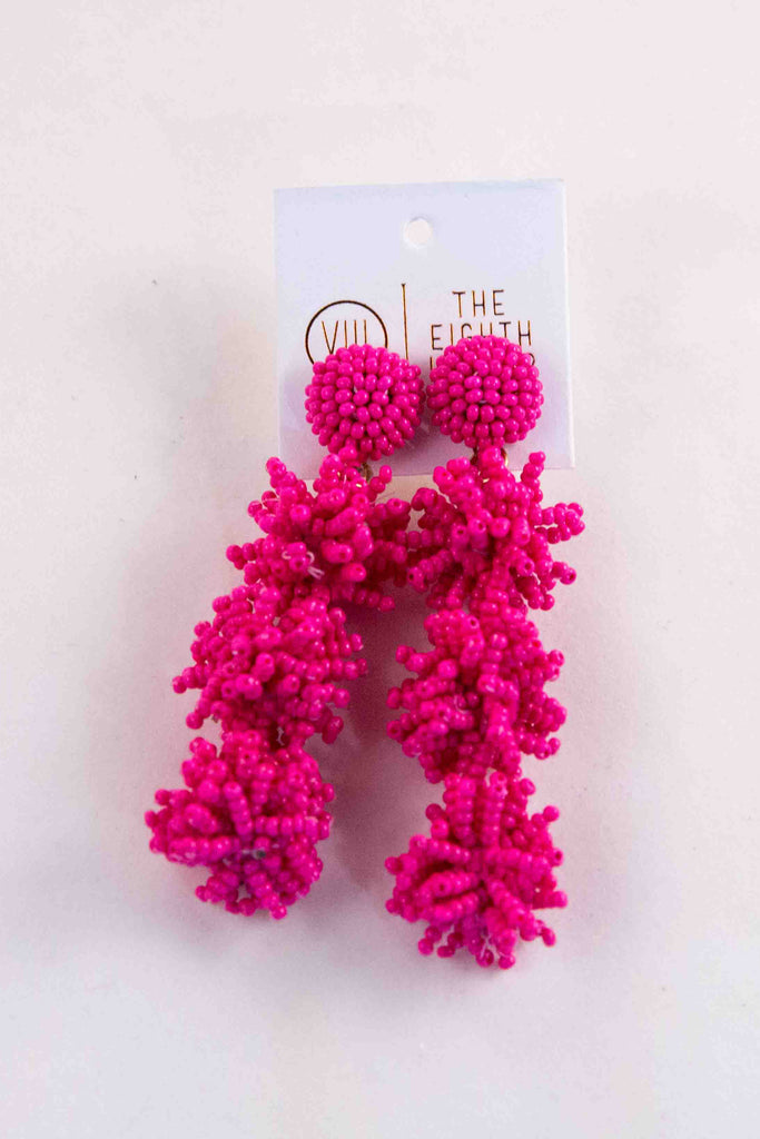 Coral Earring - Pink
