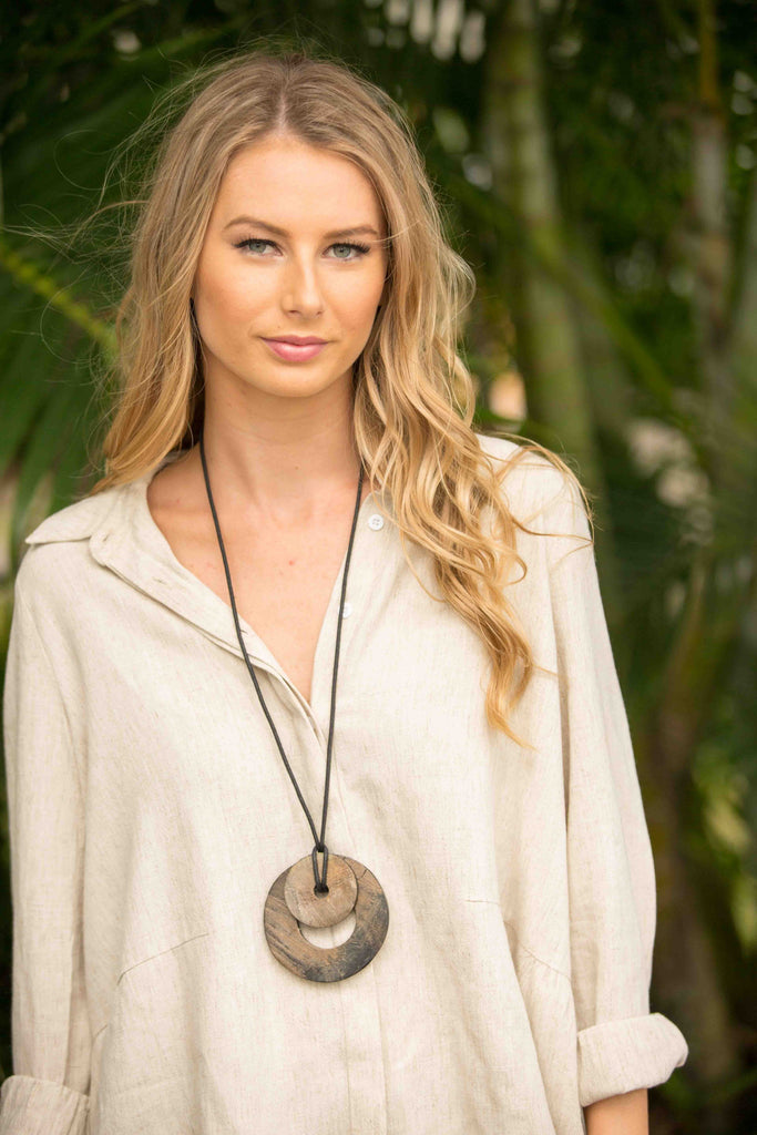 Malawi Necklace - Brown