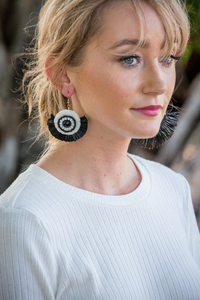 Zuma Earring - Black & White