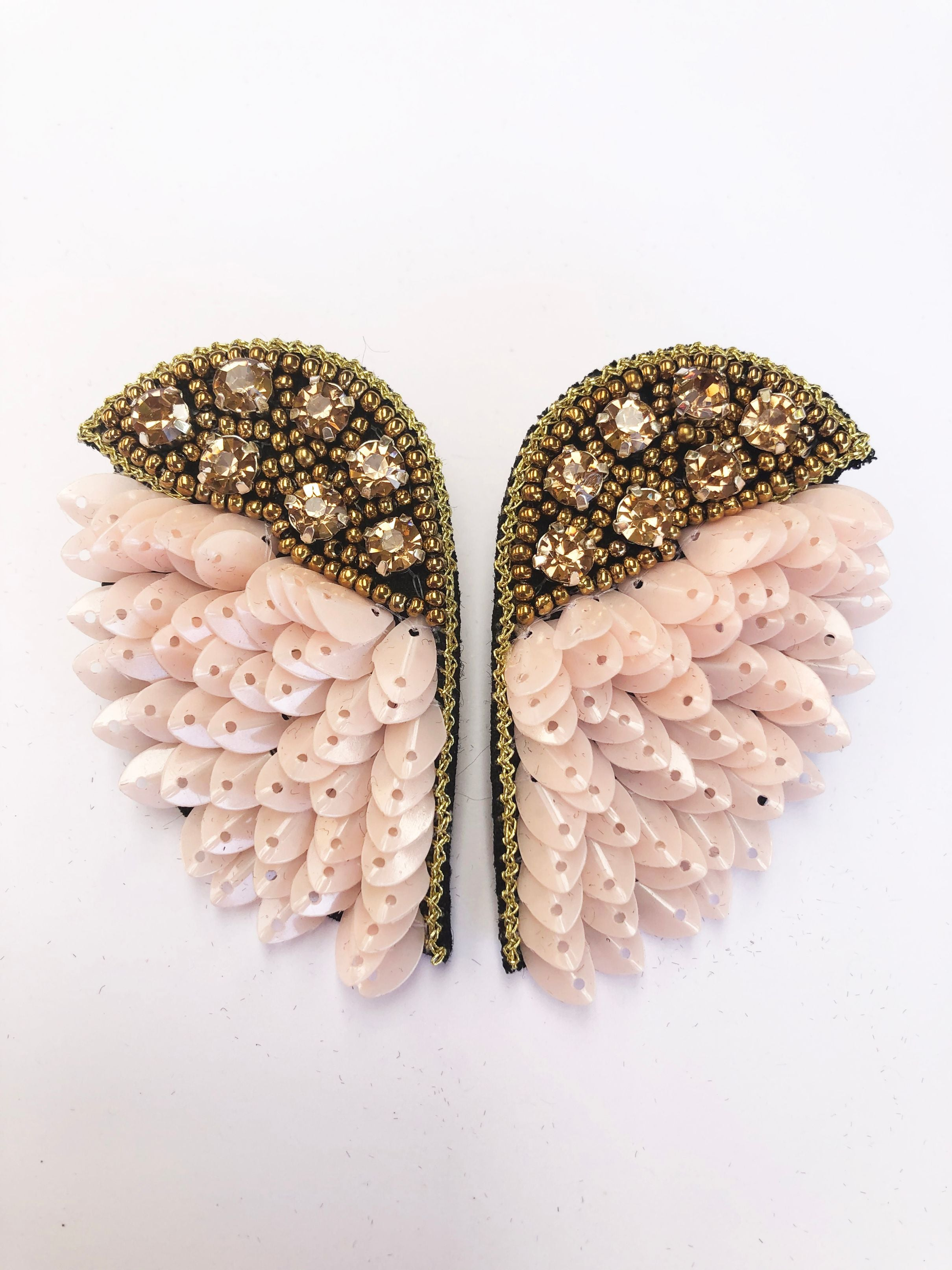 Bella Wings Earring - Soft Pink