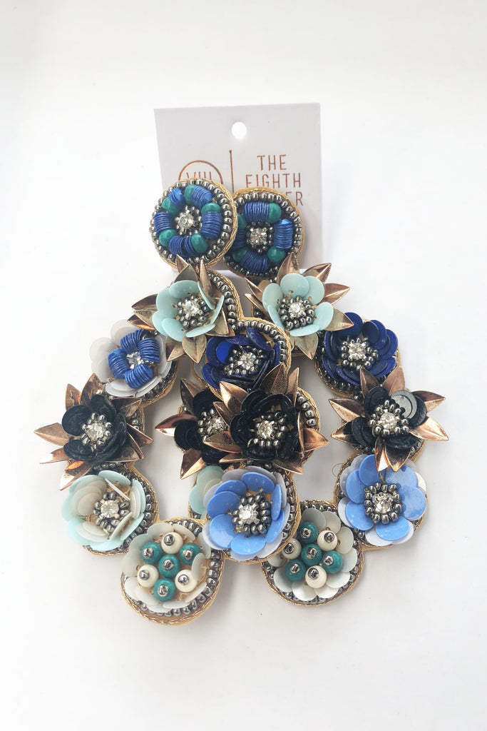 Bette Earring - Denim