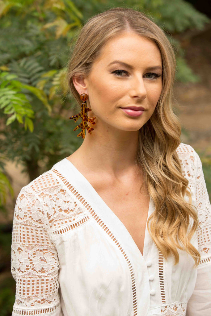 Reef Earring - Brown