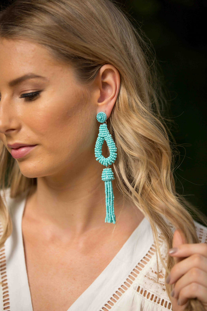 Droplet Earring - Blue