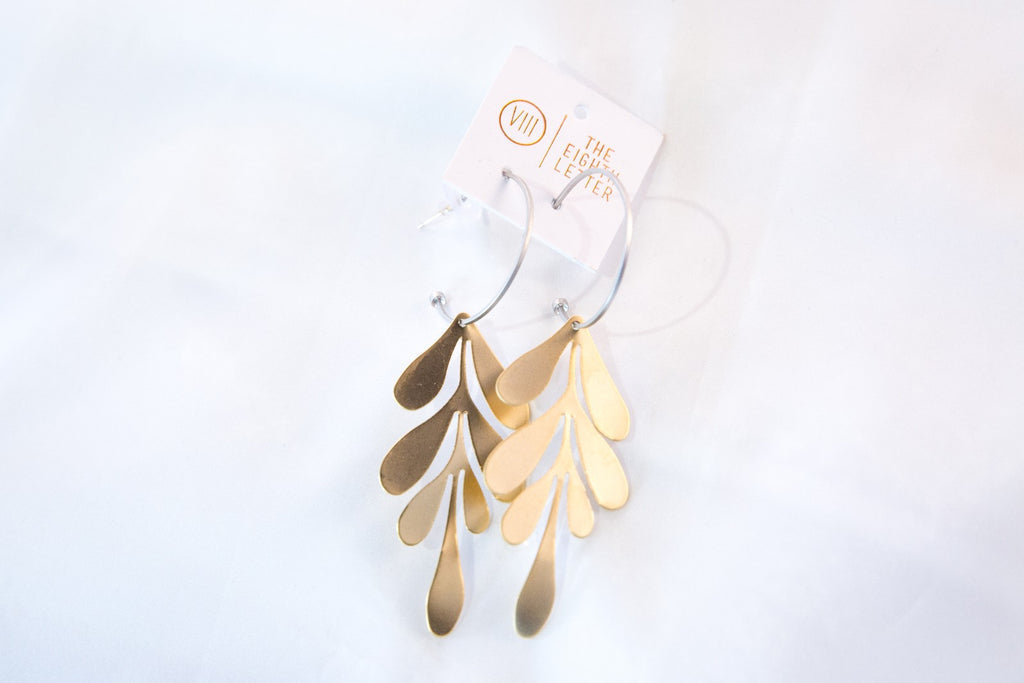 Leaf Earring - Gold