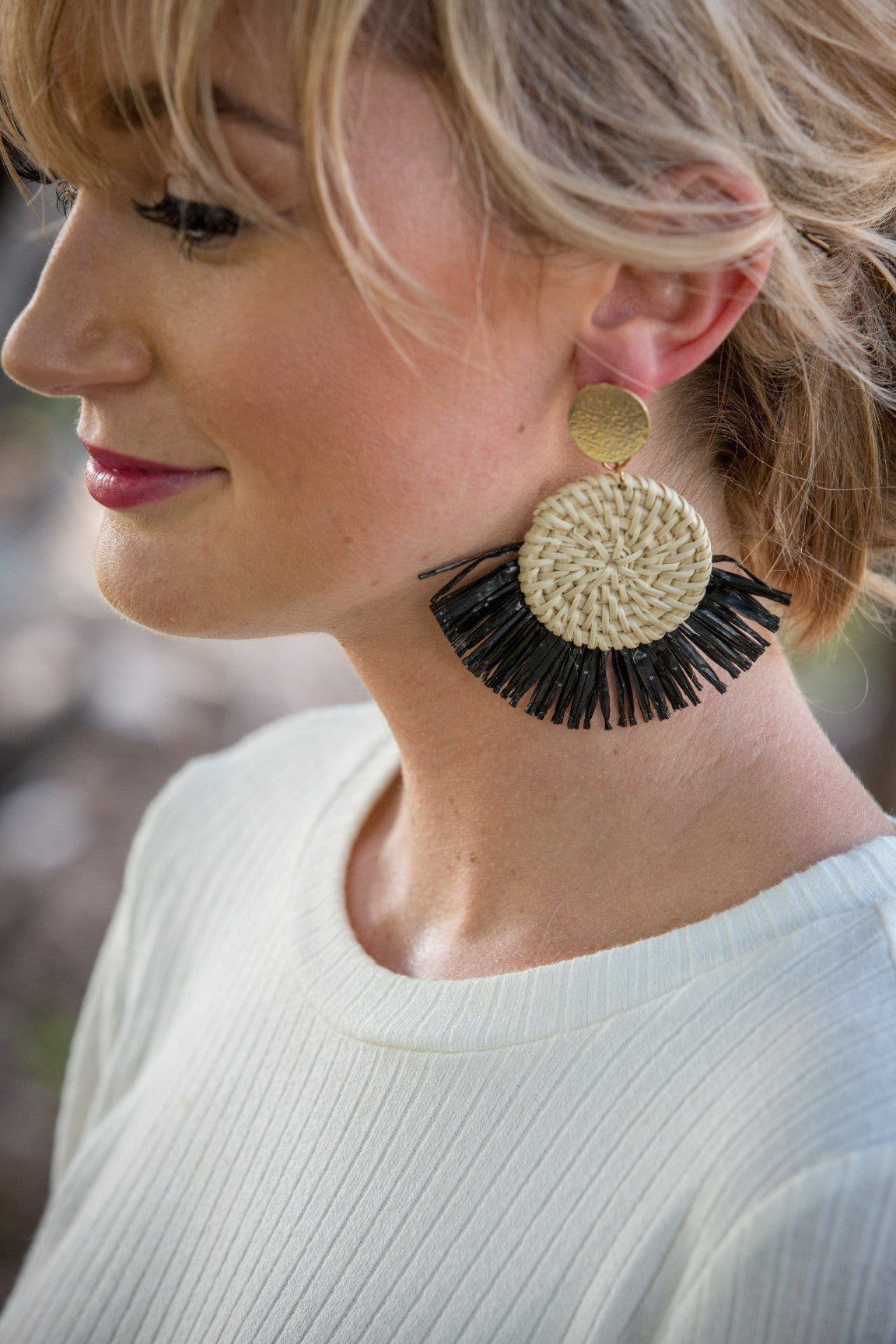 Sunrise Earring - Black