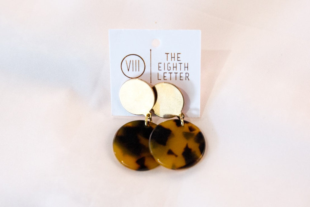 Minnie Earring - Tortoiseshell - Clip on earring