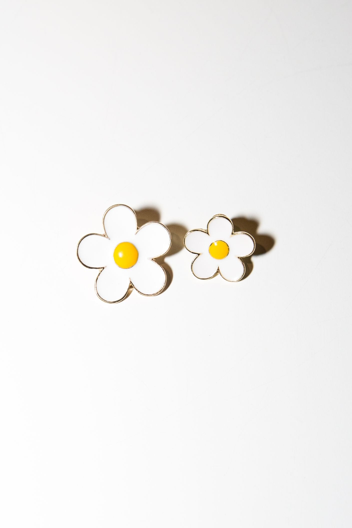 Ella Flower Stud - White