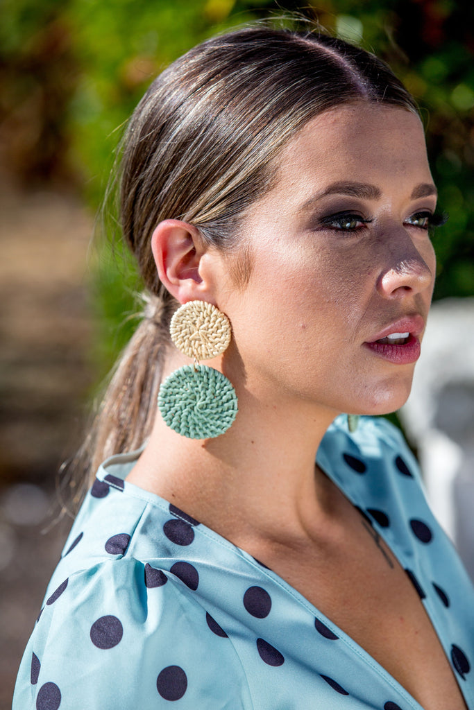 Sophie Earring - Olive
