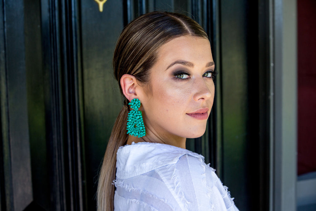 Bo Earring - Green