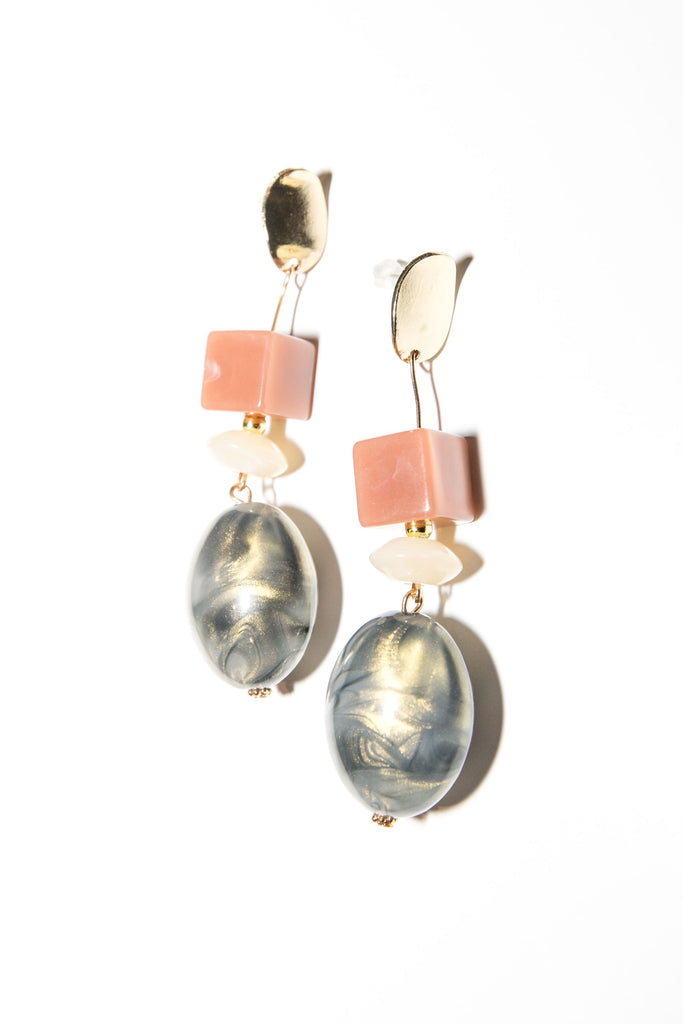 Susie Earring - Dusty Pink