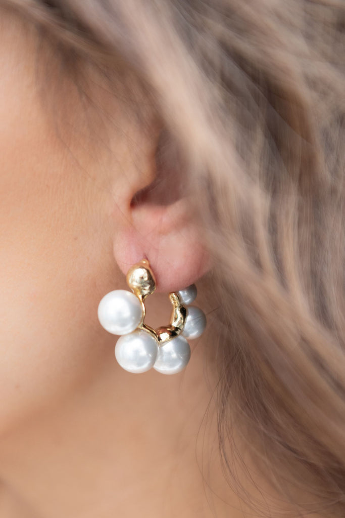Abby Earring Gold & Pearl