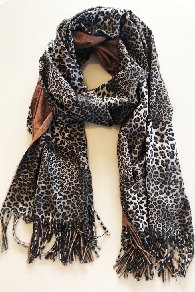 Cheetah Scarf- Tan