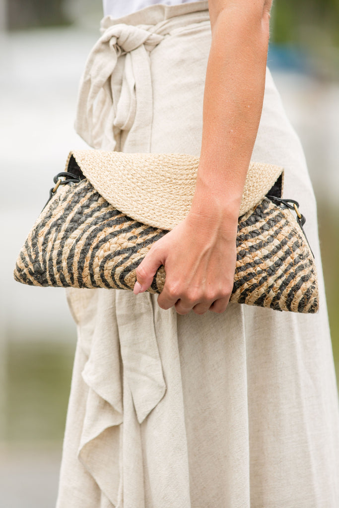 Journey Clutch / Bag - Zebra Print