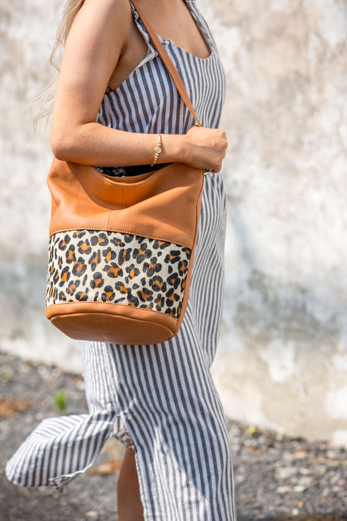 Gemima Bucket Bag - Tan
