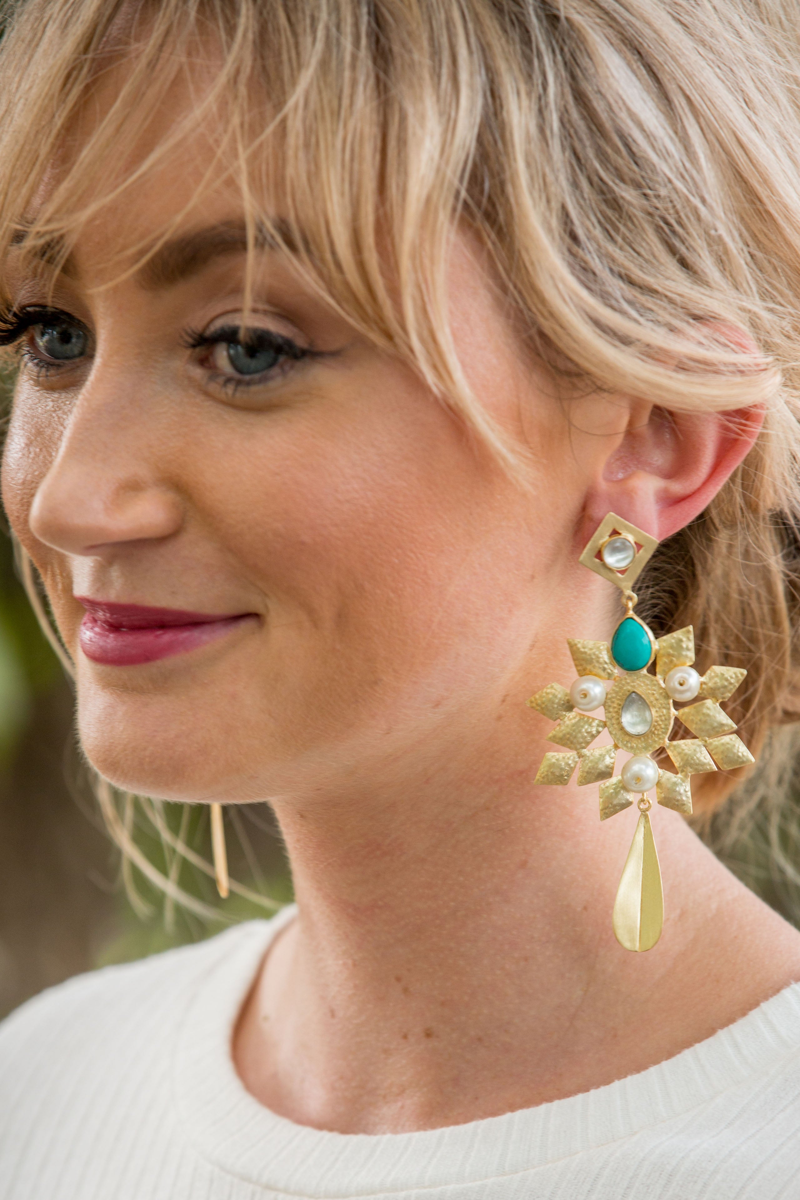 Empire Earring - TURQUOISE