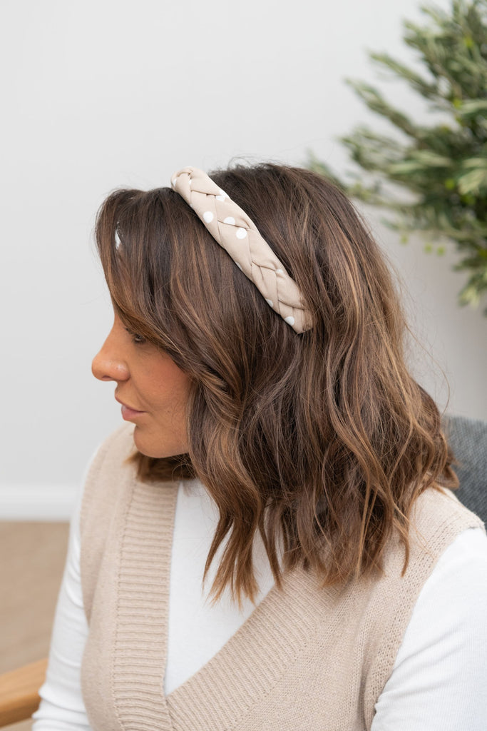 Sara Spot Headband Wheat Spot