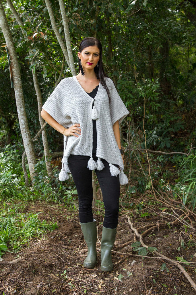 PERCY PONCHO - Pewter