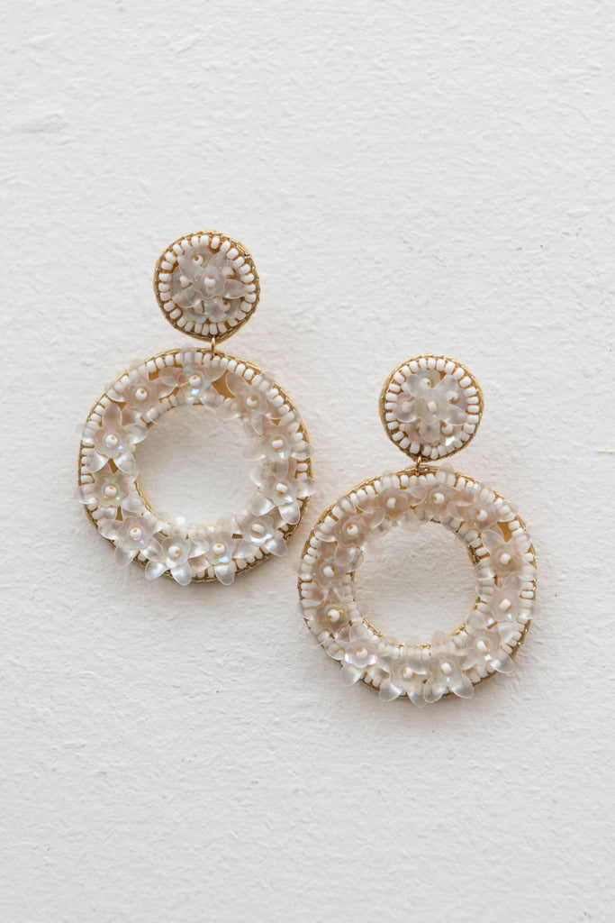 Trudes Earring - White