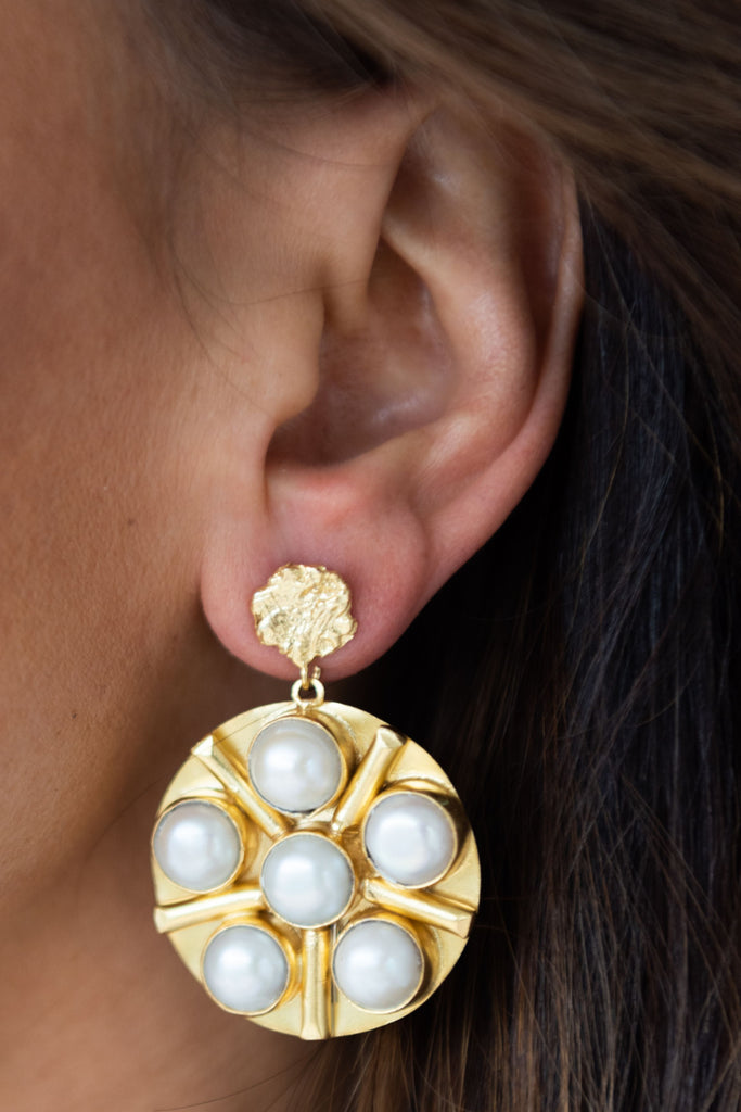 Warrior Earring - Pearl