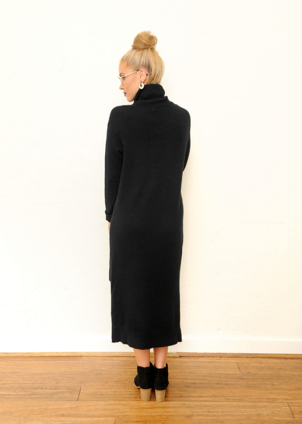 Ash Knit Dress - Black
