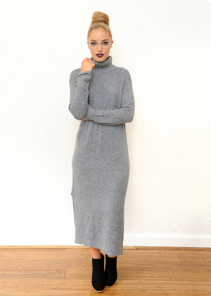 Ash Knit Dress - Grey