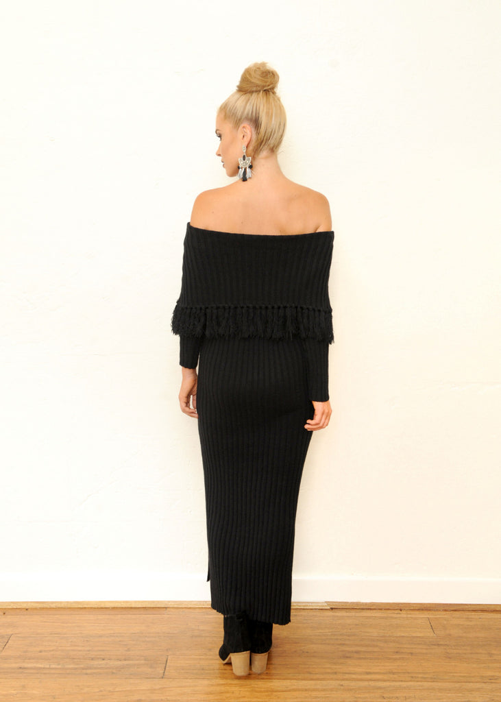 Elm Knit Dress - Black