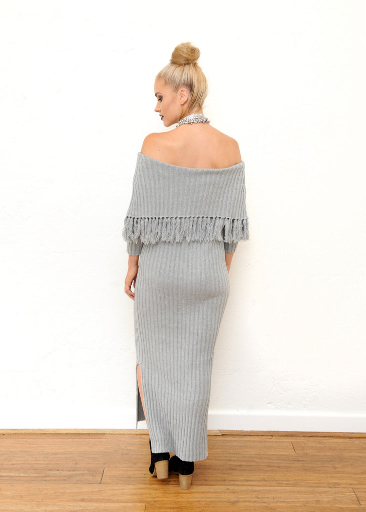 Elm Knit Dress - Grey
