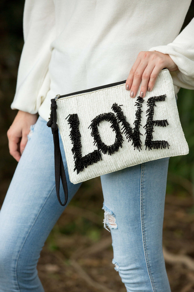 Love Clutch - Black & White