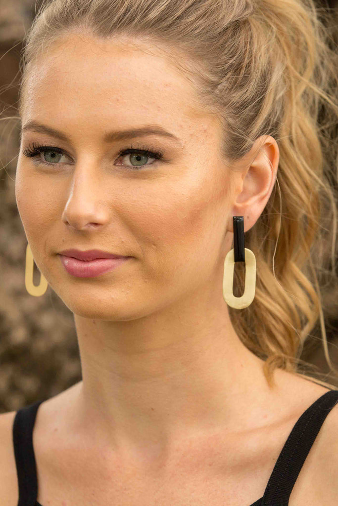 Duchess Earring - BLACK ONYX