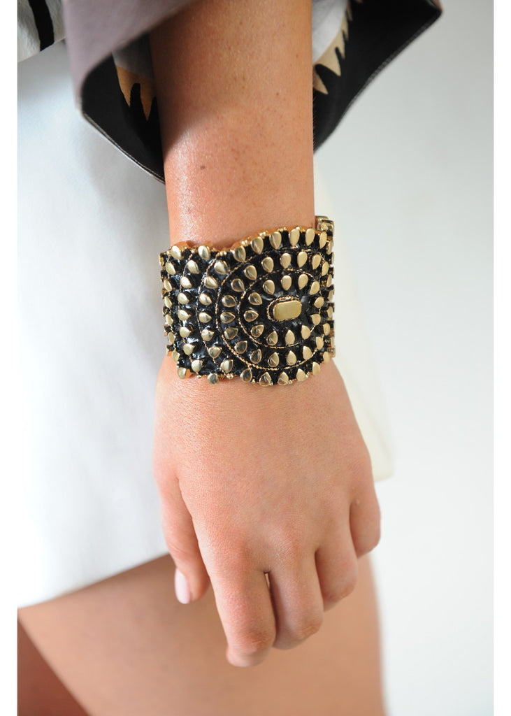 I Have The Power Solid Cuff - Gold