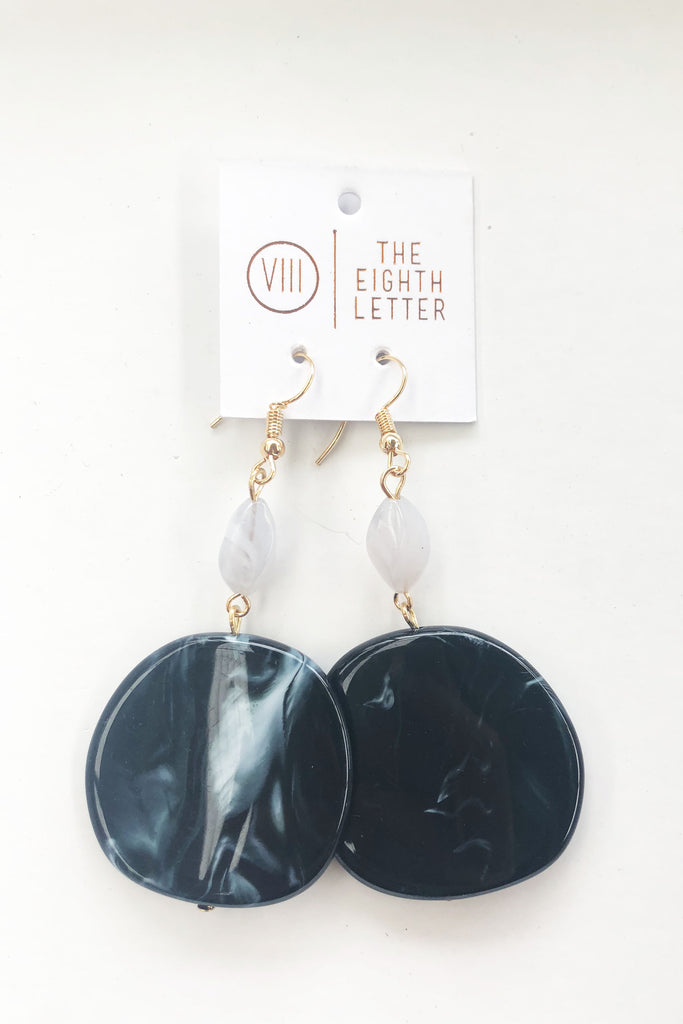 Pebble Earring - Black