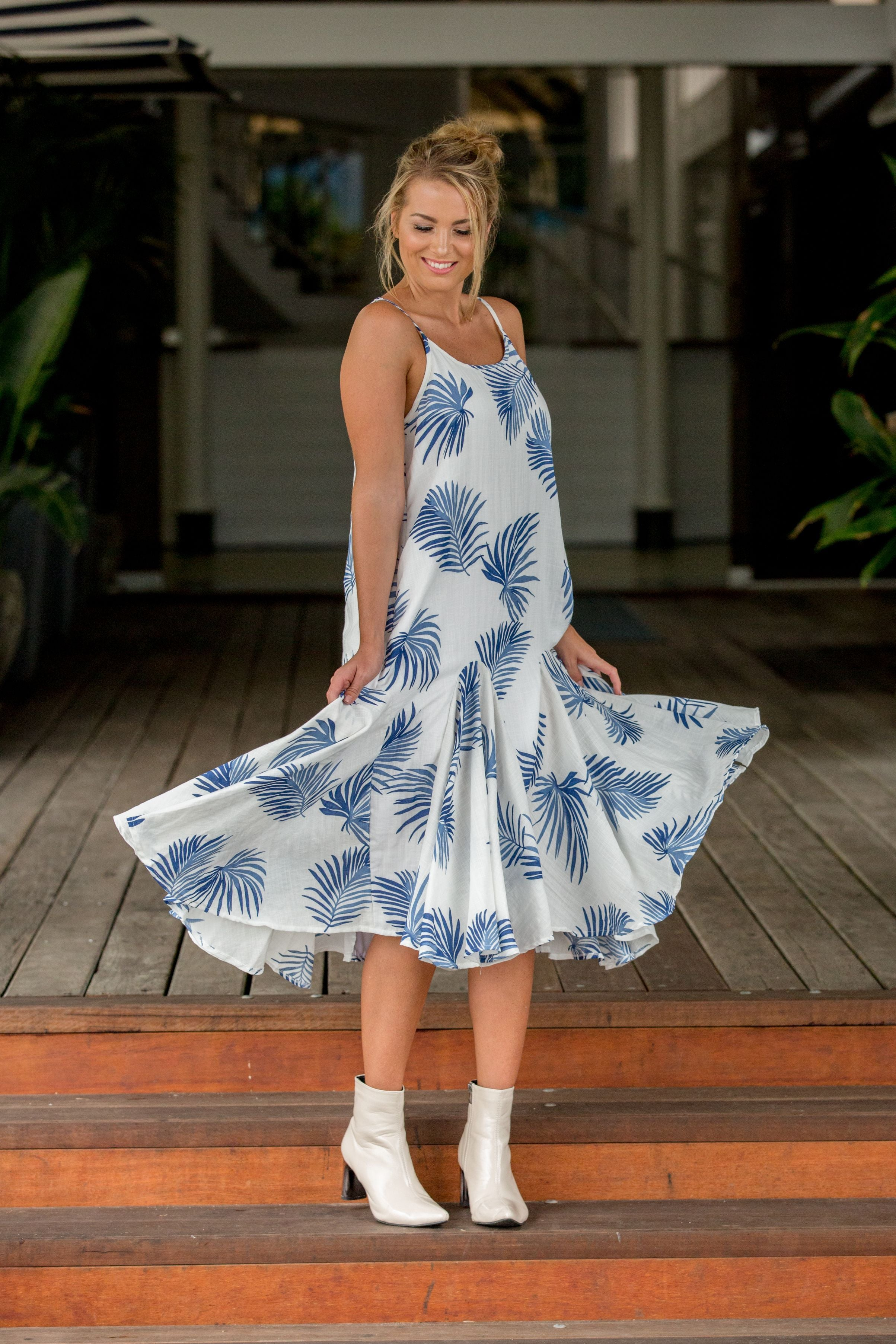 LUNA DRESS- Coastal Fern