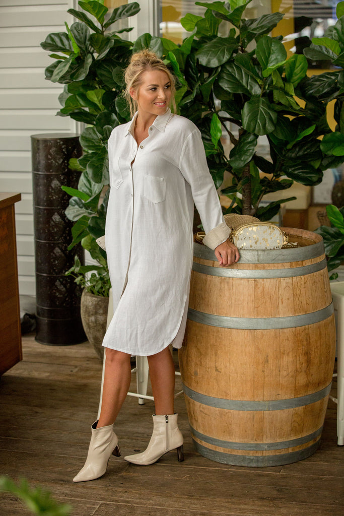 BOBBIE SHIRT / DRESS- Cloud