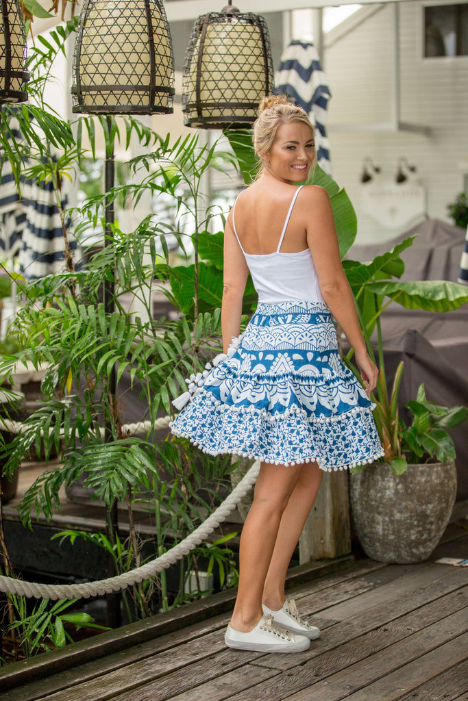 OLIVE WRAP SKIRT- Ocean Tide